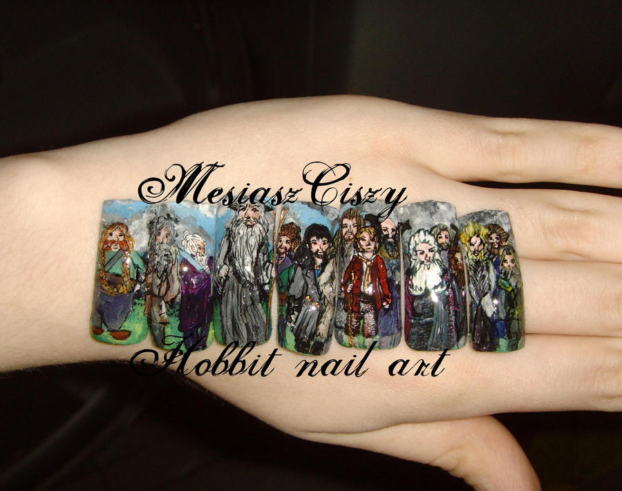 The Hobbit nail art by MesiaszCiszy