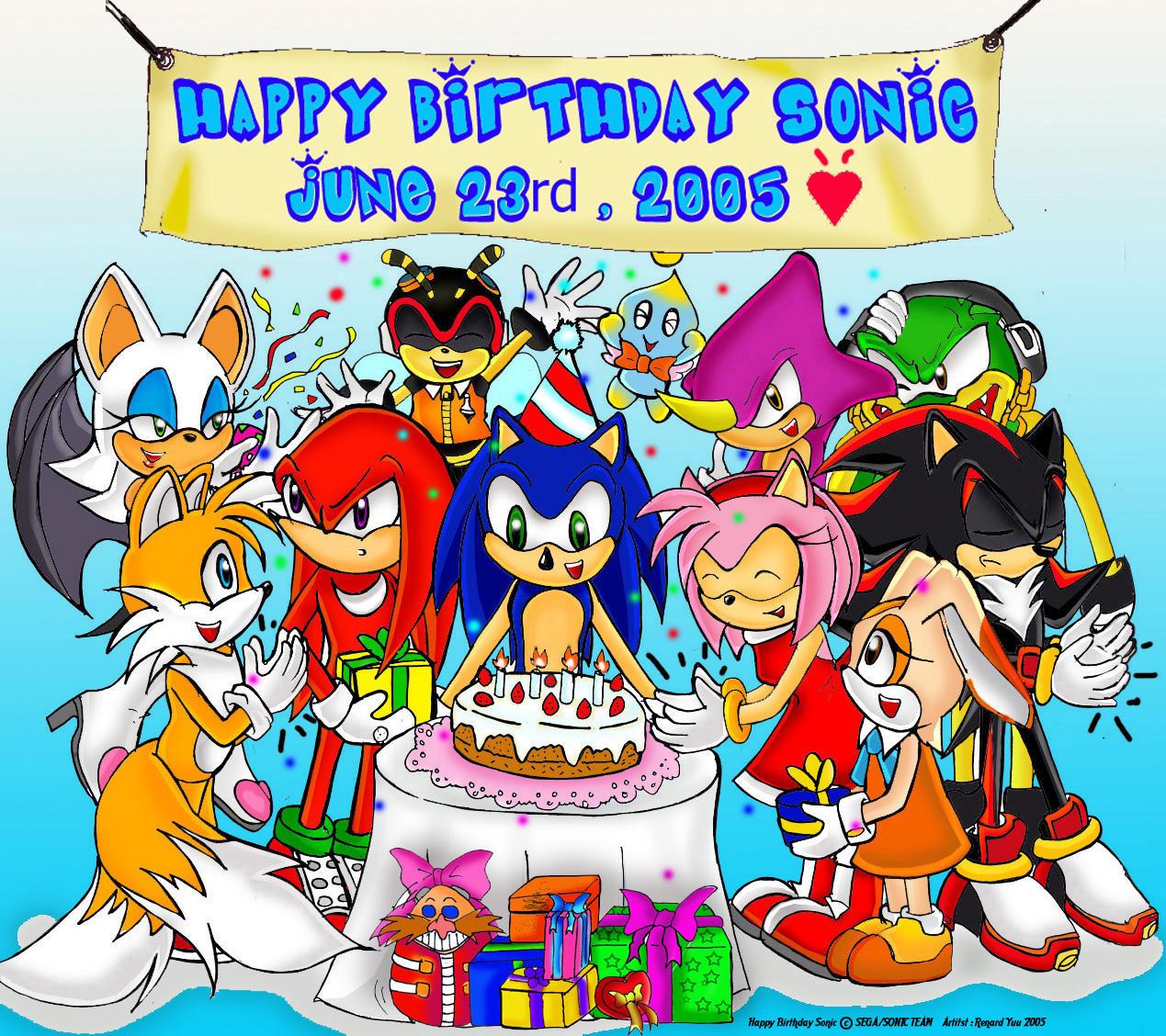 Happy Birthday Sonic By Renard1 On DeviantArt