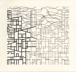 Metropoli Contemporanea - disegno in esecuzione 2^ by LittleLiuk