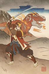 Ukiyo-e Red Ranger - MMPR Comic Variant Cover