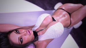 Zahia - On Sofa #1 by MadeinLC