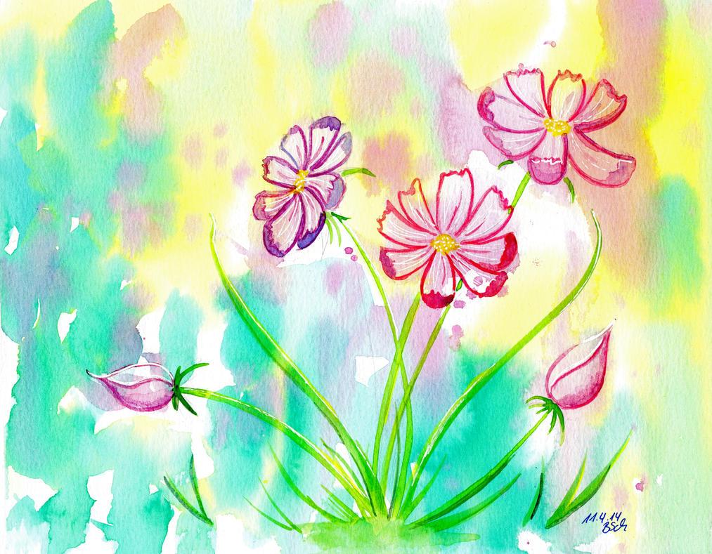 cosmos flowers by BTina05