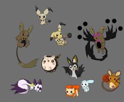 Pikachu Clone Regional Variants by SpiritAuthor
