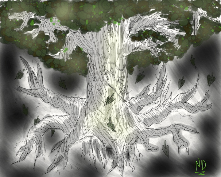 ''The Hidden Tree'' by ENDYS-ART-HELL
