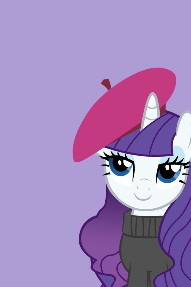 My Little Pony - iPhone Wallpapers - Artsy Rarity by doctorpantsRarity Wallpaper Iphone