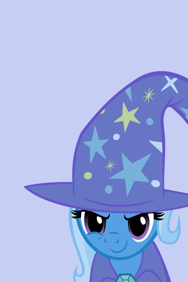 my little pony iphone wallpapers trixie by doctorpants