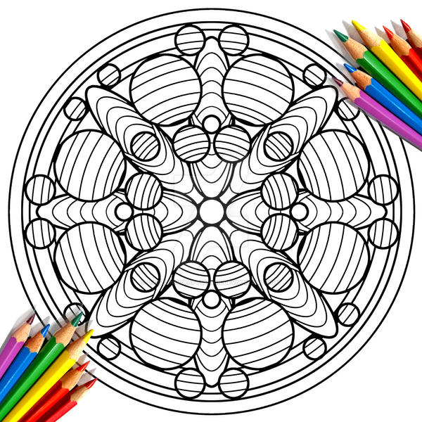 Abstract Circular Mandala Coloring Page By DazzlingCraftShacK