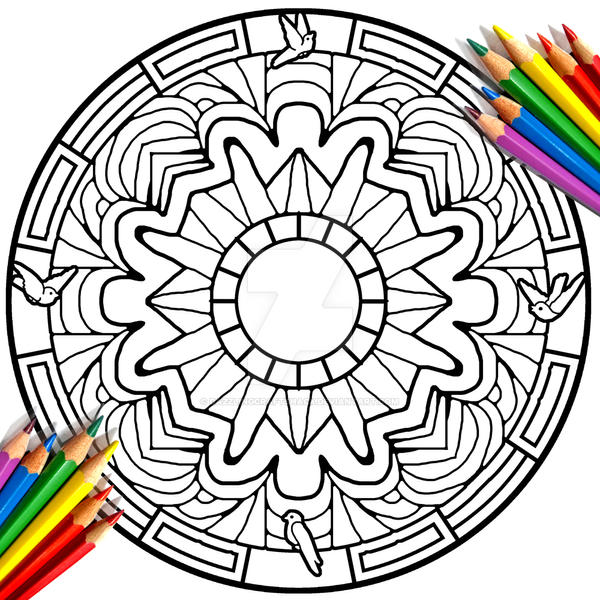 Dove Birds Mandala Coloring Page by DazzlingCraftShacK on ...