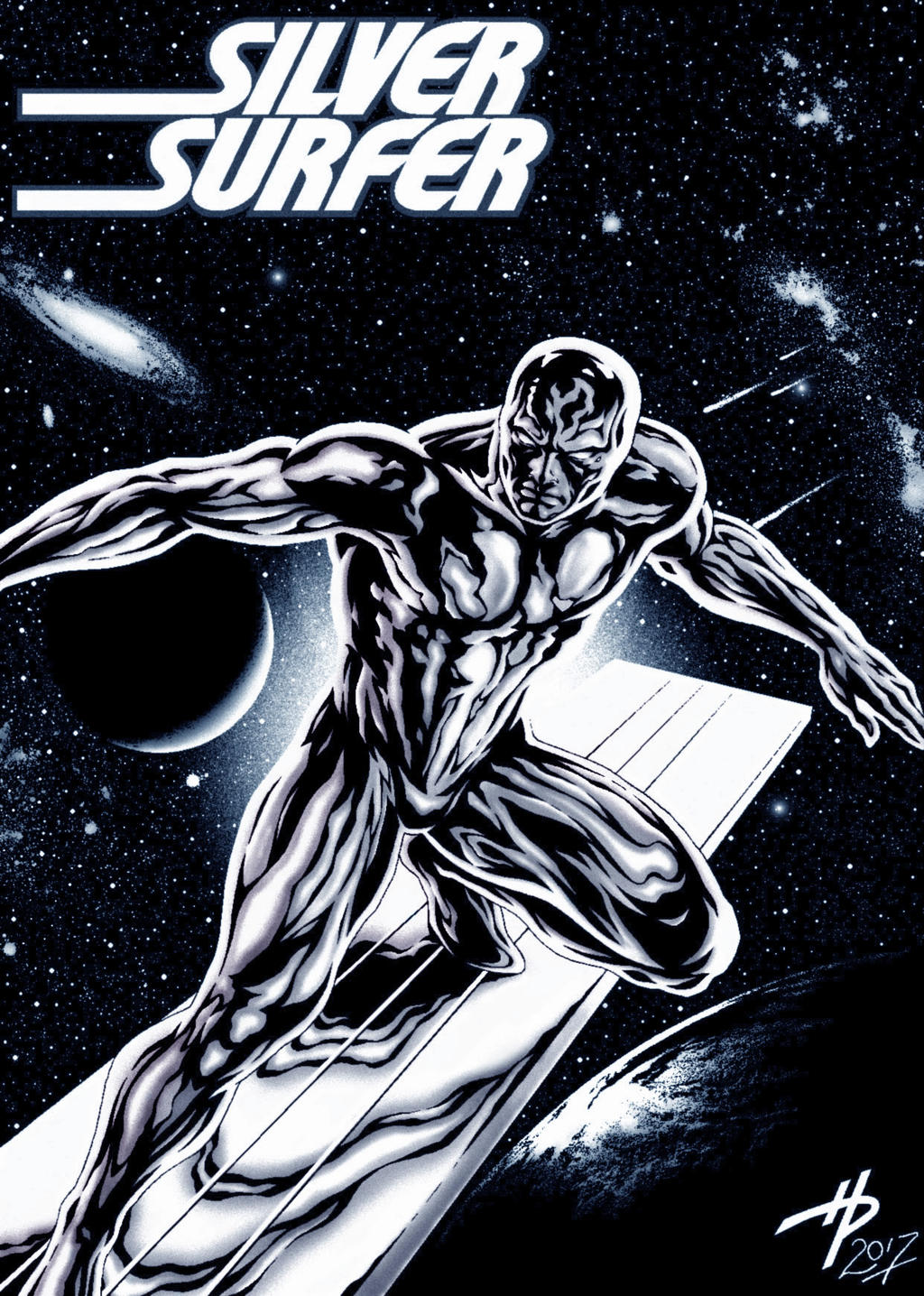 jack kirbys the silver surfer colored by hal2012 on