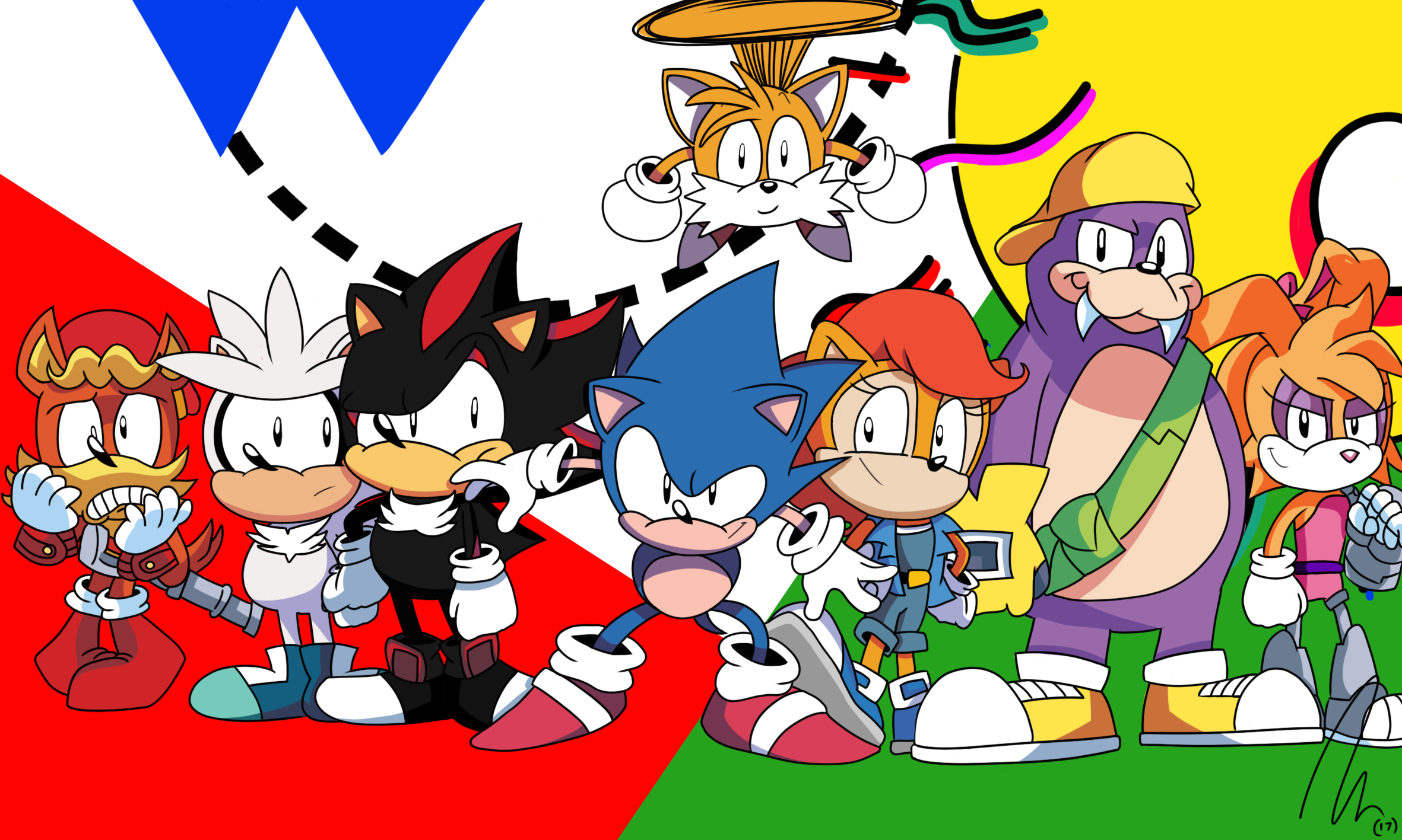 Sonic And His Friends By Thedarkshadow1990 On Deviantart