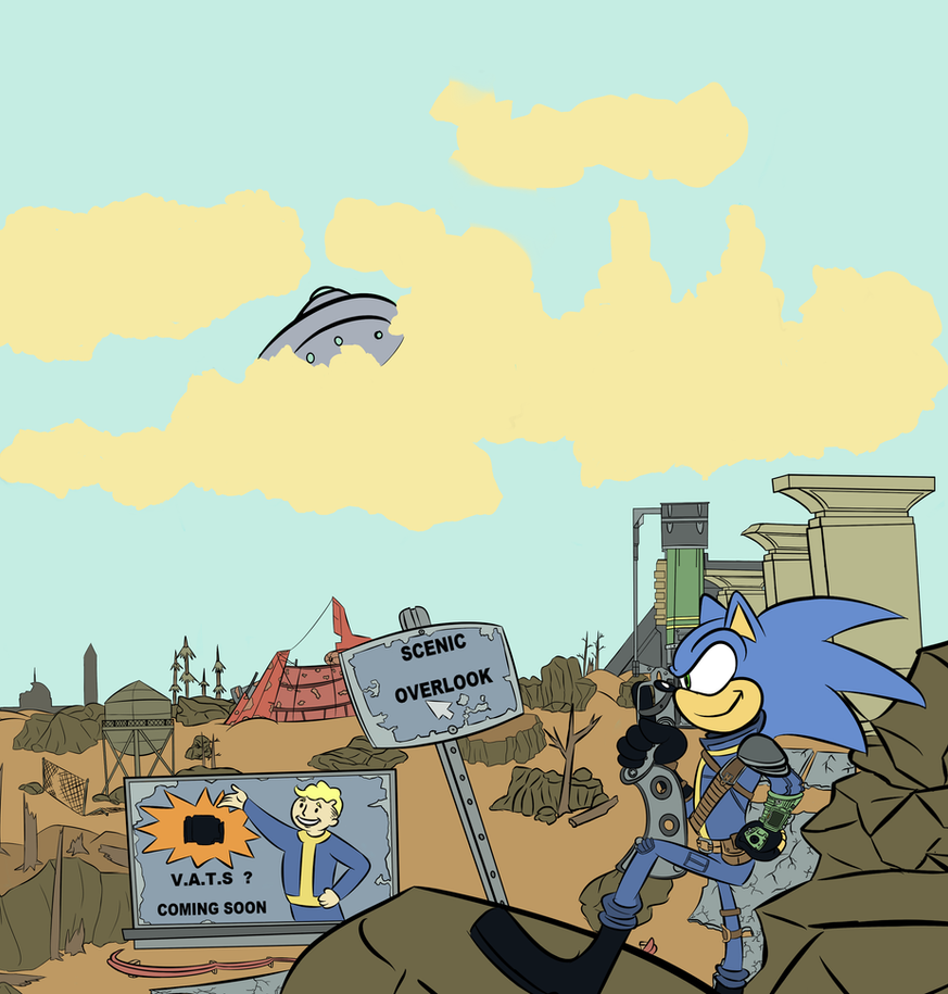 War War never changes (Sonic/Fallout crossover) by TheDarkShadow1990