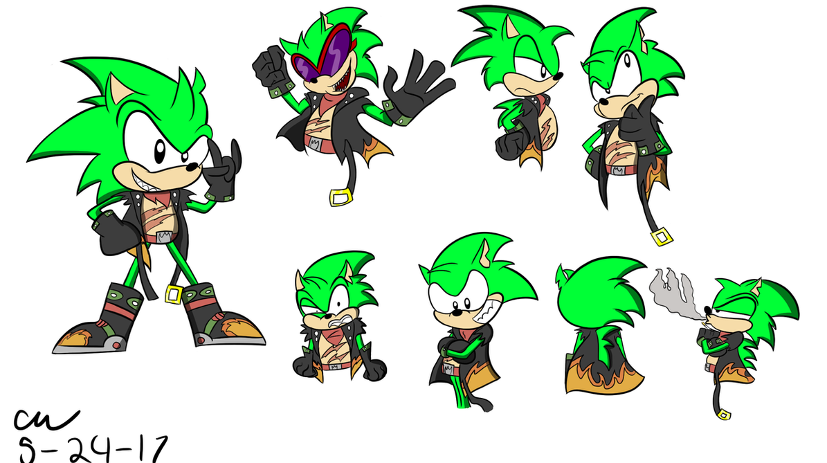 Scourge the Hedgehog (doodles) by TheDarkShadow1990