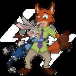 Judy hugging Nick