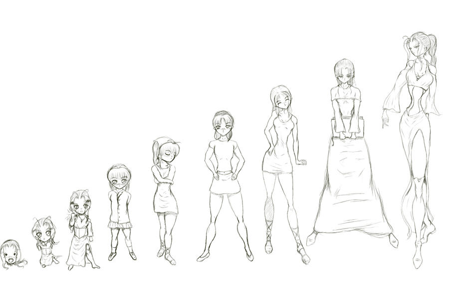 1 to 9 heads - Ariel by richten