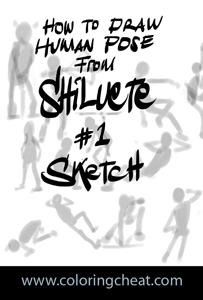 Drawin Pose from Shiluete Tuts by pundiestudio