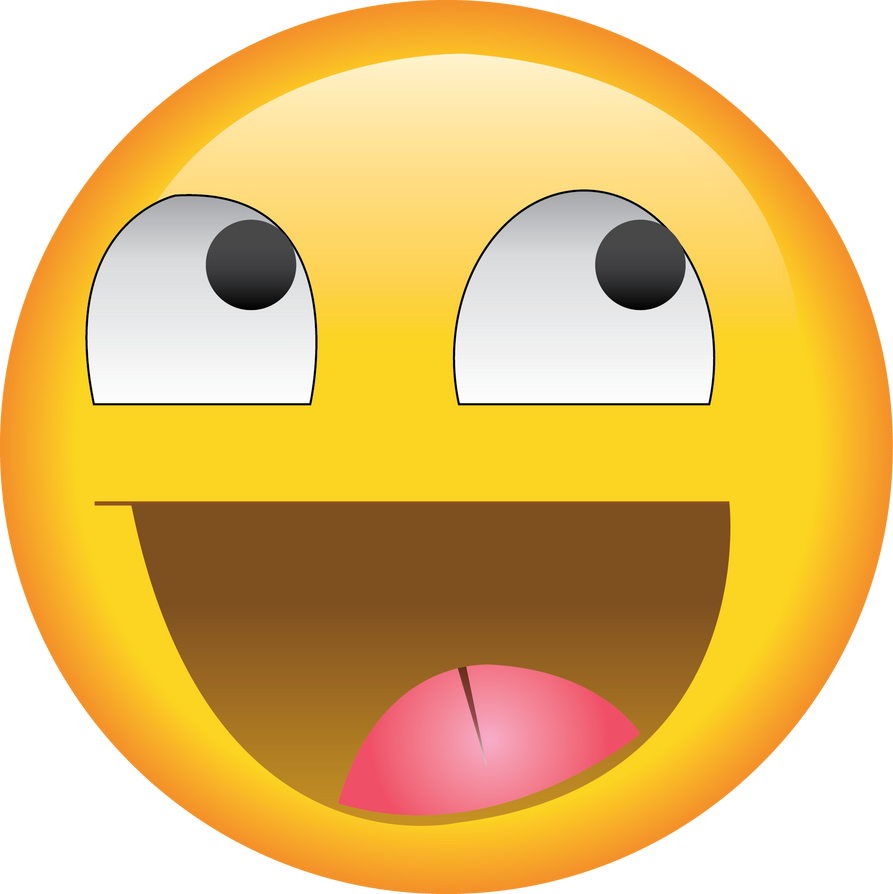 Yellow smile face meme emoji style by Andrea-Pixel on ...
