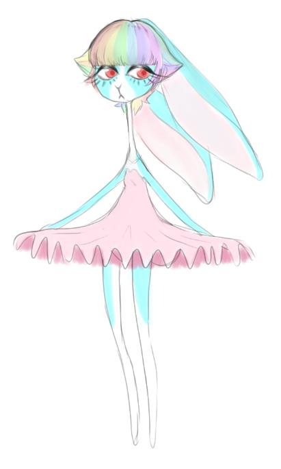 Rainbow Ballerina Bun adopt??? OPEN by KID-KANEDA