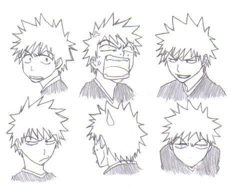 Kurosaki Ichigo - Expressions by Naruto224 on DeviantArt