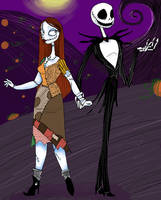 Valentine Couple Jack + Sally by SilverTallest