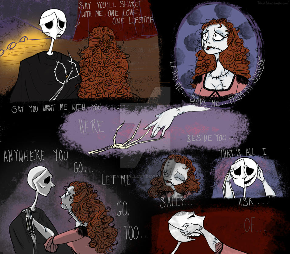 Past the Point of No Return :Jack and Sally by SilverTallest