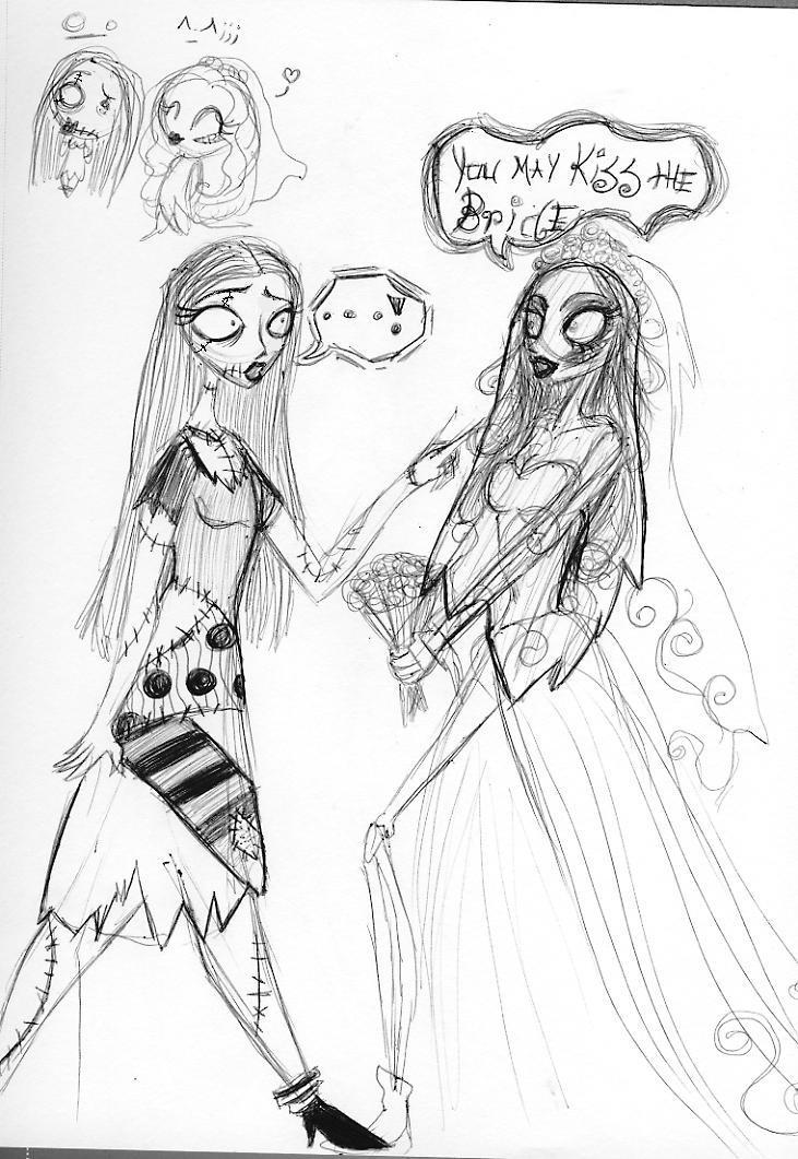 coloring pages corpse bride - corpse bride meets sally by silvertallest on deviantart