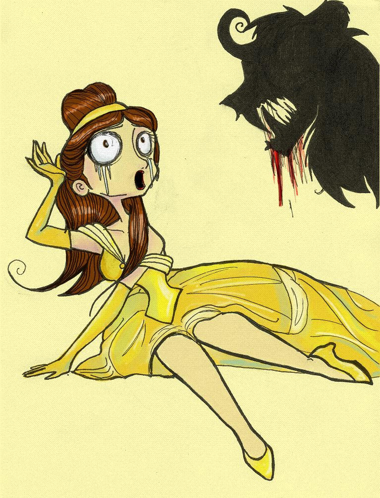 Burtonized Princess: Belle by SilverTallest