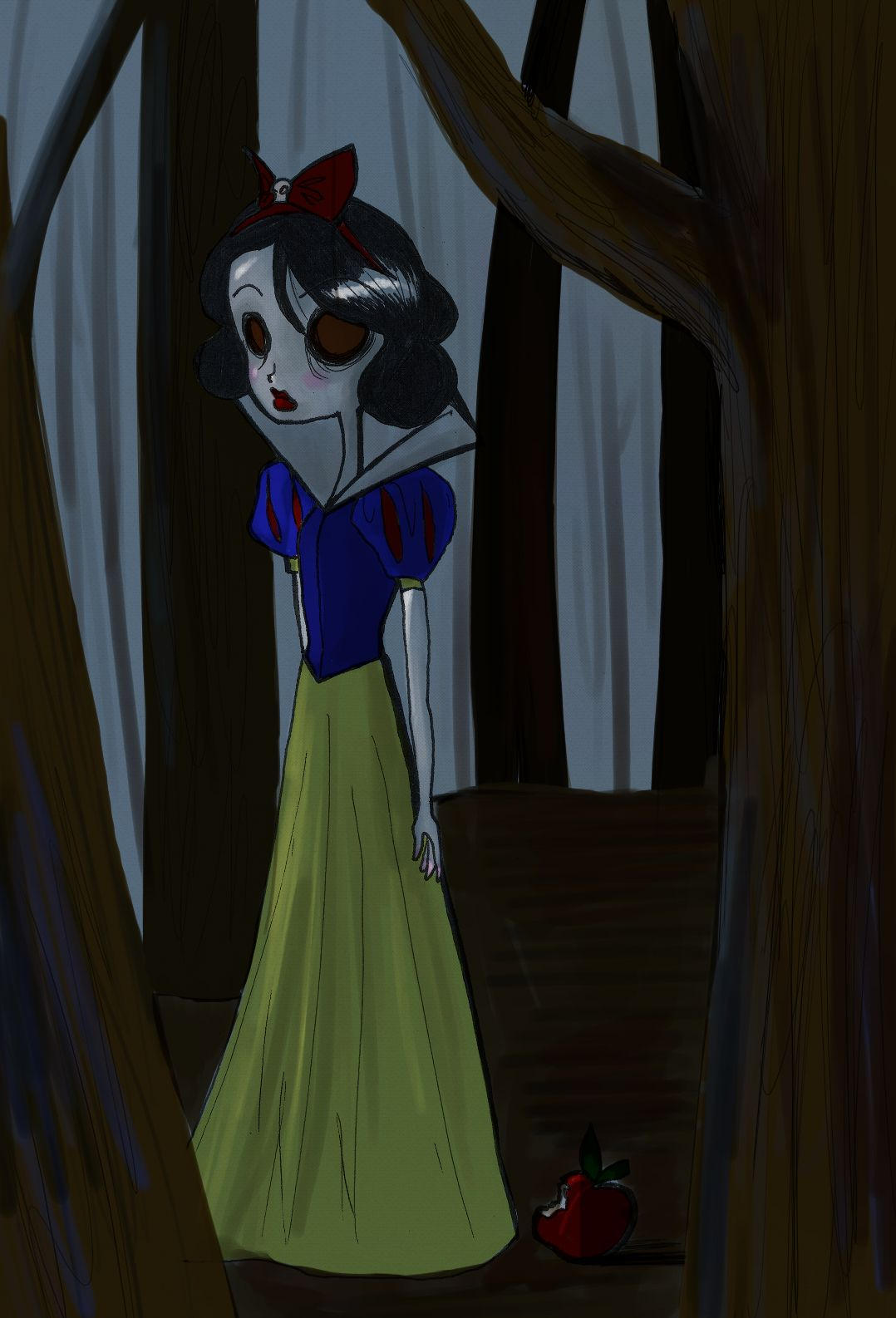 Burtonized Princess:Snow White by SilverTallest