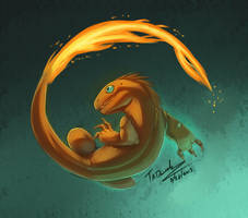 004 Charmander by Taddle