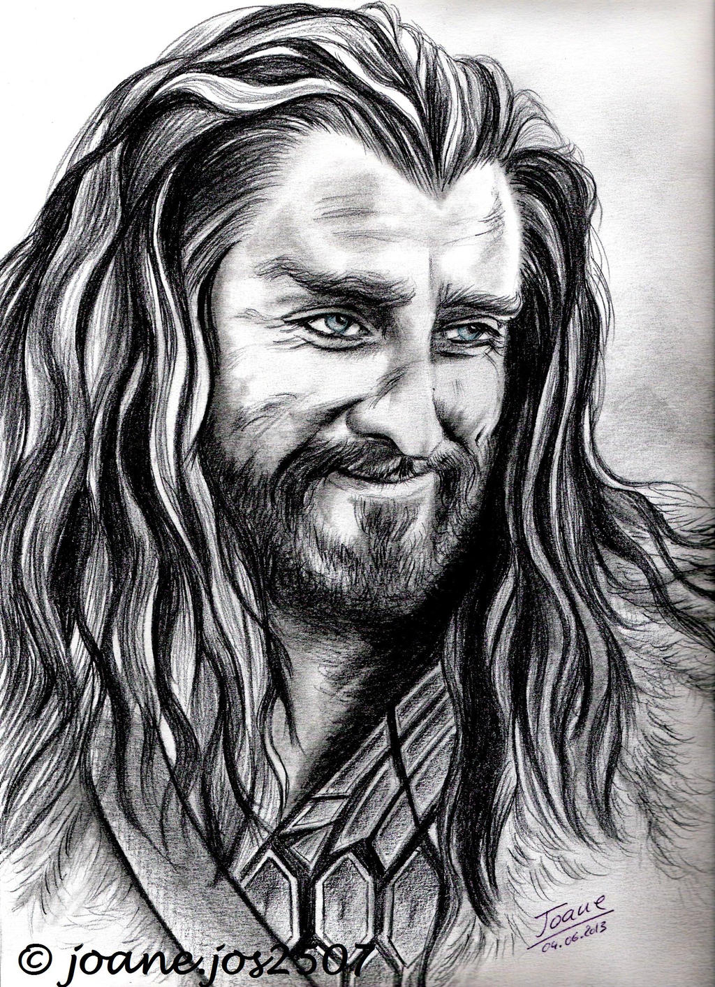 Richard Armitage, Thorin Oakenshield smiling by jos2507