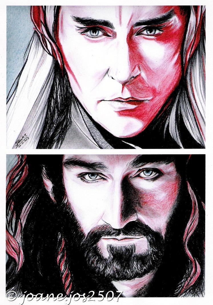 Thorin / Thranduil, battle of Kings by jos2507