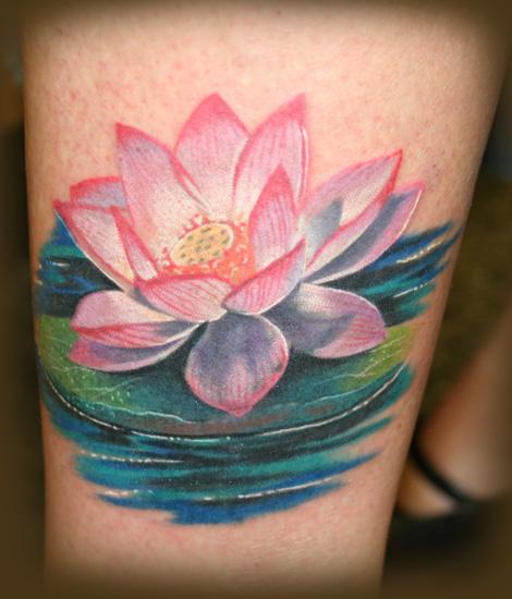 Lotus tattoo by jesserix