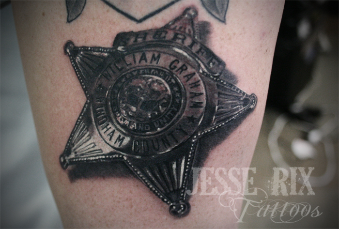 Sheriff badge by jesserix on deviantart for Law enforcement memorial tattoo