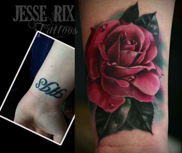 Rose Tattoo Cover Up: Rose Tattoo By Jesserix On DeviantArt