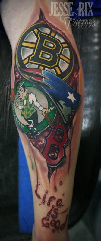 England Sleeve Tattoo Designs: New England Sports Tattoo By Jesserix On DeviantArt