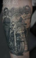 Vintage Harley Tattoo by jesserix