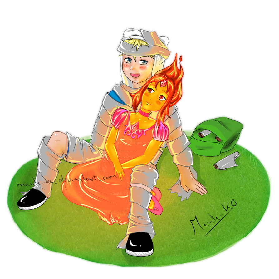 Finn And FlamePrincess by Mante-KO