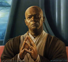 Mace Windu - Master of the Council by scifiartist-dot-com