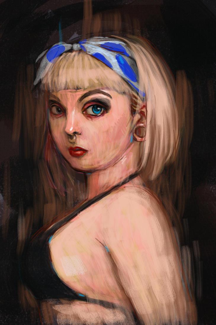 Shalla digital sketch by Flap15