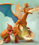 Charizard and family