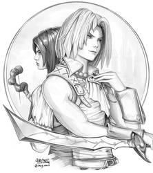 Final Fantasy IX - Zidane and Garnet