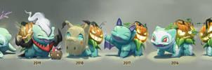 2016-2020 Halloween Bulbasaurs