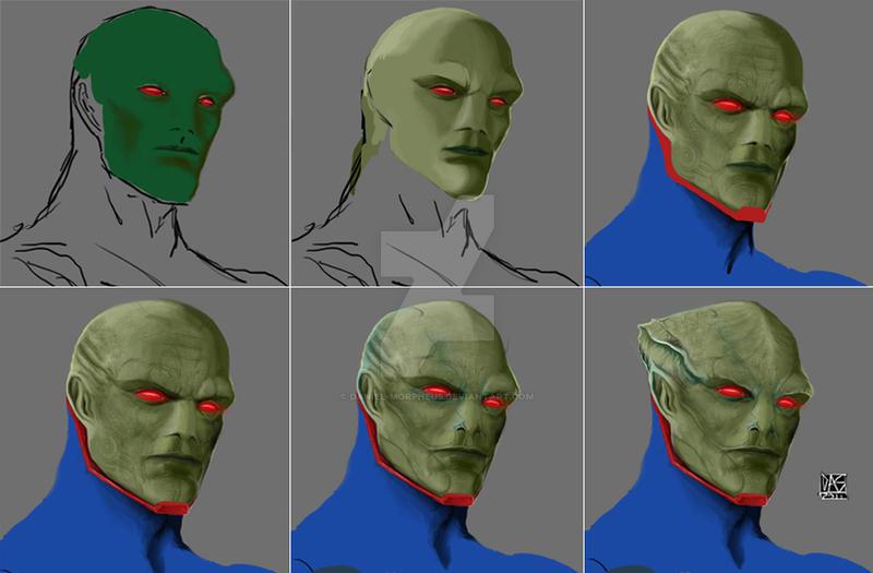 Martian Manhunter Step by Step