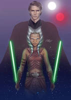 Anakin Skywalker and Ahsoka Tano by daniel-morpheus