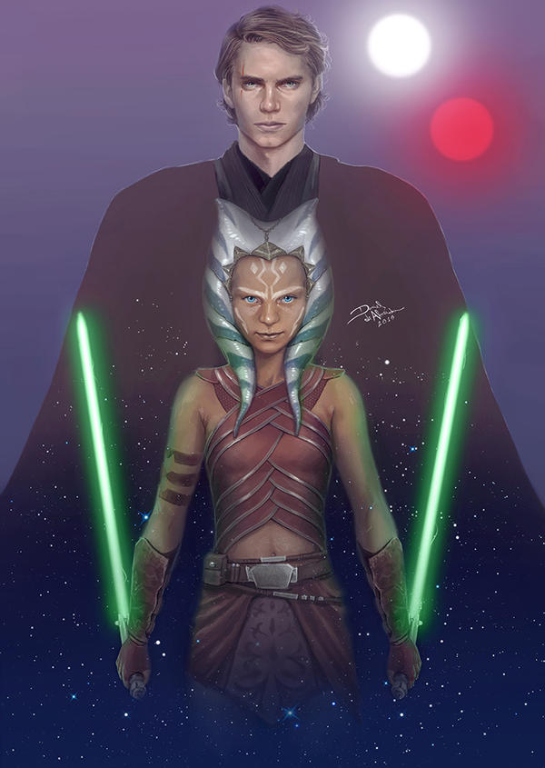 Anakin Skywalker and Ahsoka Tano by daniel-morpheus