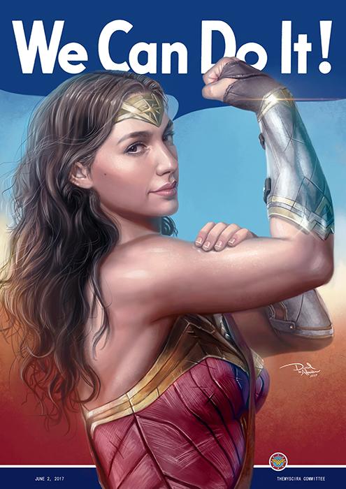 We Can Do It - WonderWoman by daniel-morpheus