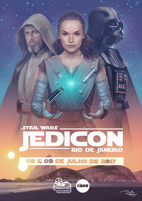 Jedicon Rio de Janeiro (2017) - Official Poster by daniel-morpheus