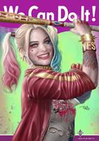 We Can Do It - Harley Quinn by daniel-morpheus