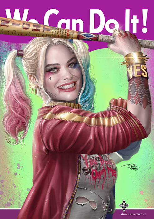 We Can Do It - Harley Quinn by daniel-morpheus