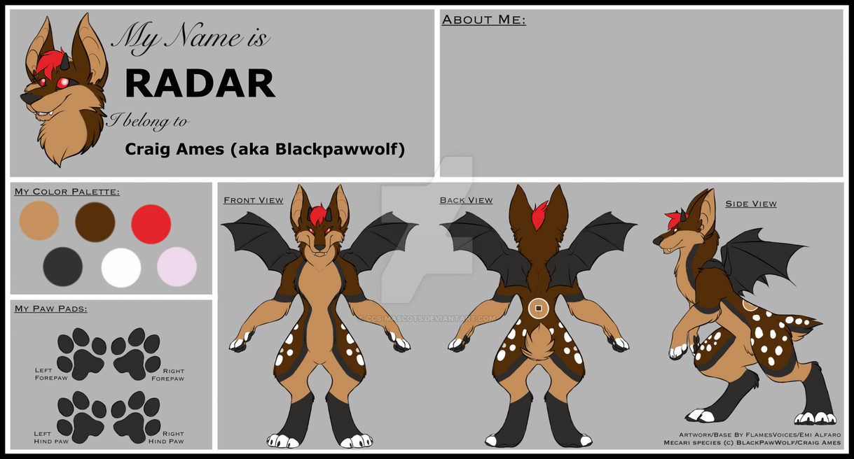 Radar's updated Reference sheet by CCS-Mascots