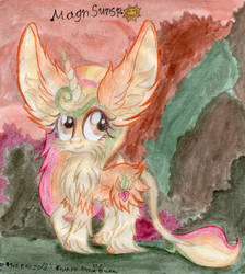 Fluffy eared autumn pony by MagnifSunspiration